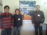Realizado em São Miguel das Missões. Na foto, o Prof. Paulo Butzen com o Cícero e o Augusto, após a apresentação dos 3 artigos publicados.
